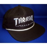 THRASHER ROPE SNAPBACK Black