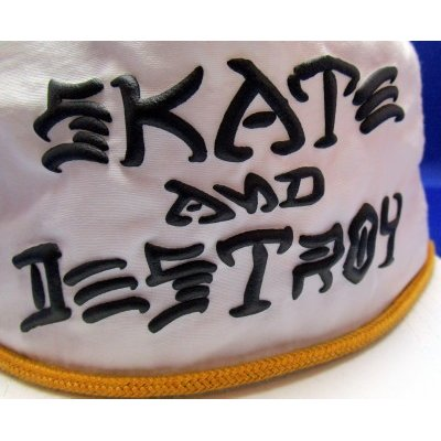 画像2: THRASHER SKATE AND DESTROY PUFF INK SNAPBACK CAP WHITE