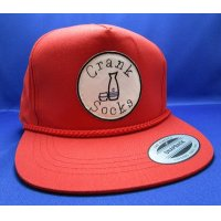 CRANK SOCKS SNAPBACK CAP (RED)